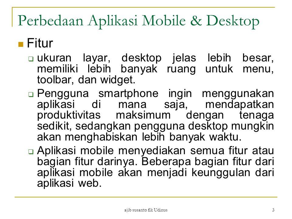 Perbedaan Aplikasi Mobile & Desktop