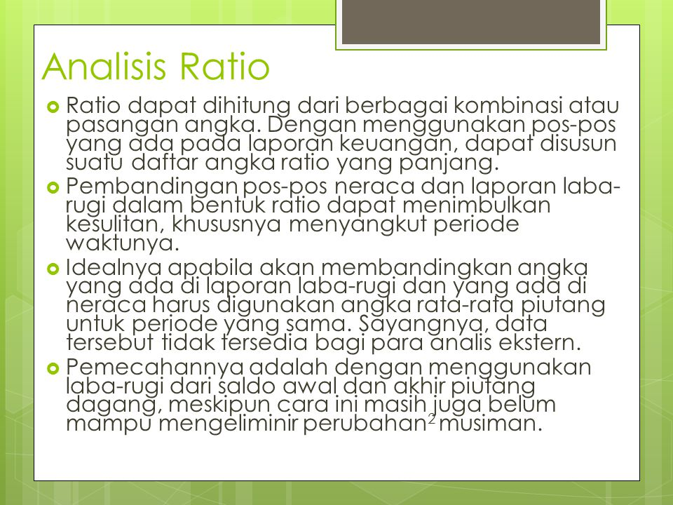 Analisis Ratio
