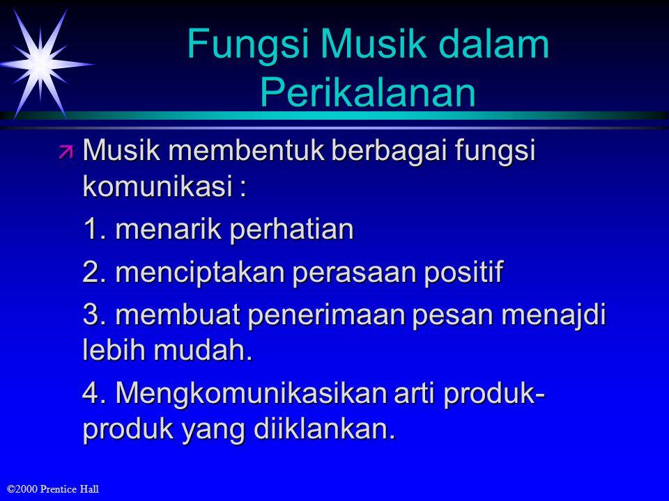 Fungsi Musik dalam Perikalanan
