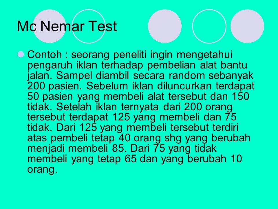 Mc Nemar Test