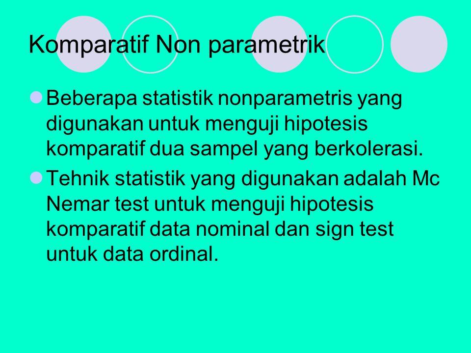 Komparatif Non parametrik