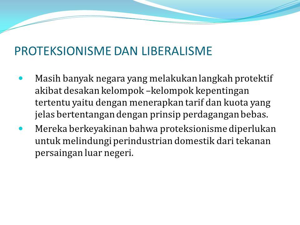 PROTEKSIONISME DAN LIBERALISME