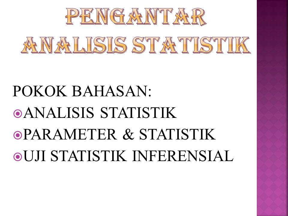 PENGANTAR ANALISIS STATISTIK