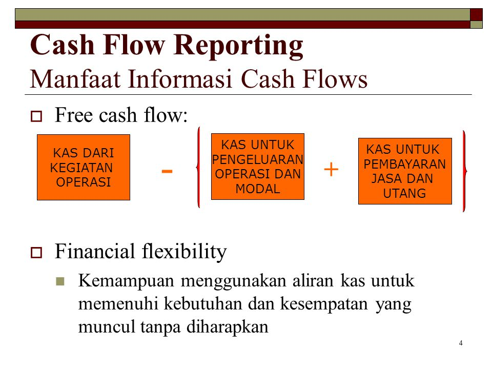 Cash Flow Reporting Manfaat Informasi Cash Flows
