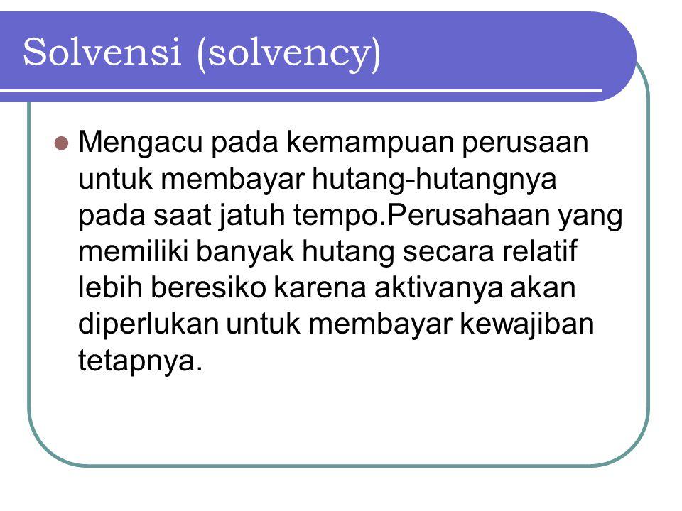 Solvensi (solvency)