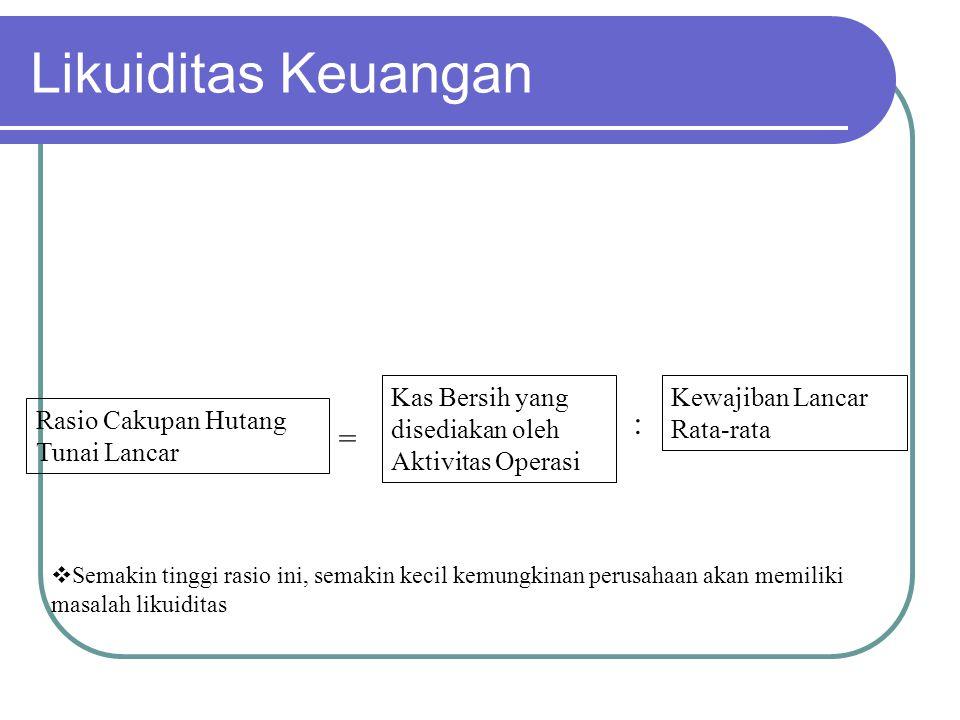 Likuiditas Keuangan : =