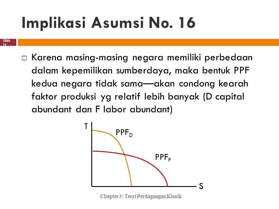 Implikasi Asumsi No. 16