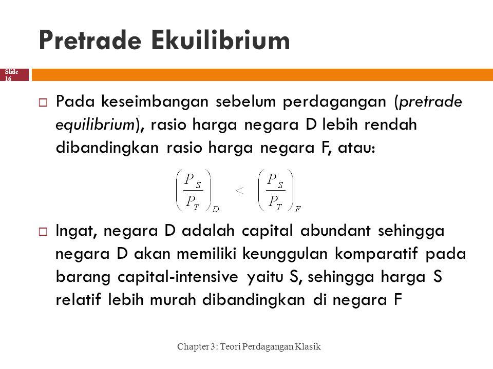 Pretrade Ekuilibrium