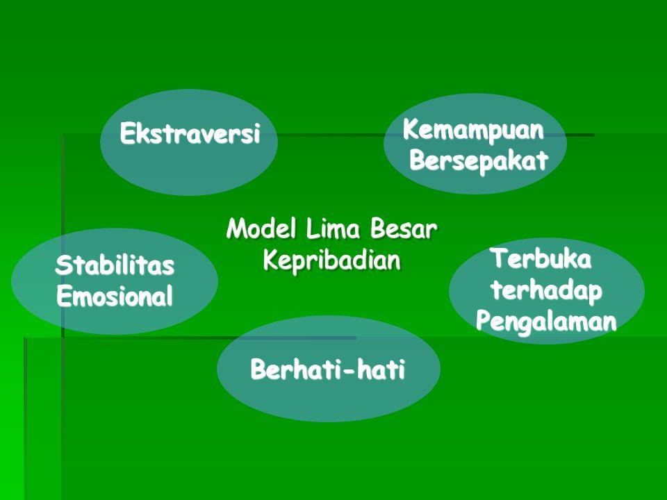 Kemampuan Bersepakat. Ekstraversi. Model Lima Besar. Kepribadian. Stabilitas. Emosional. Terbuka.