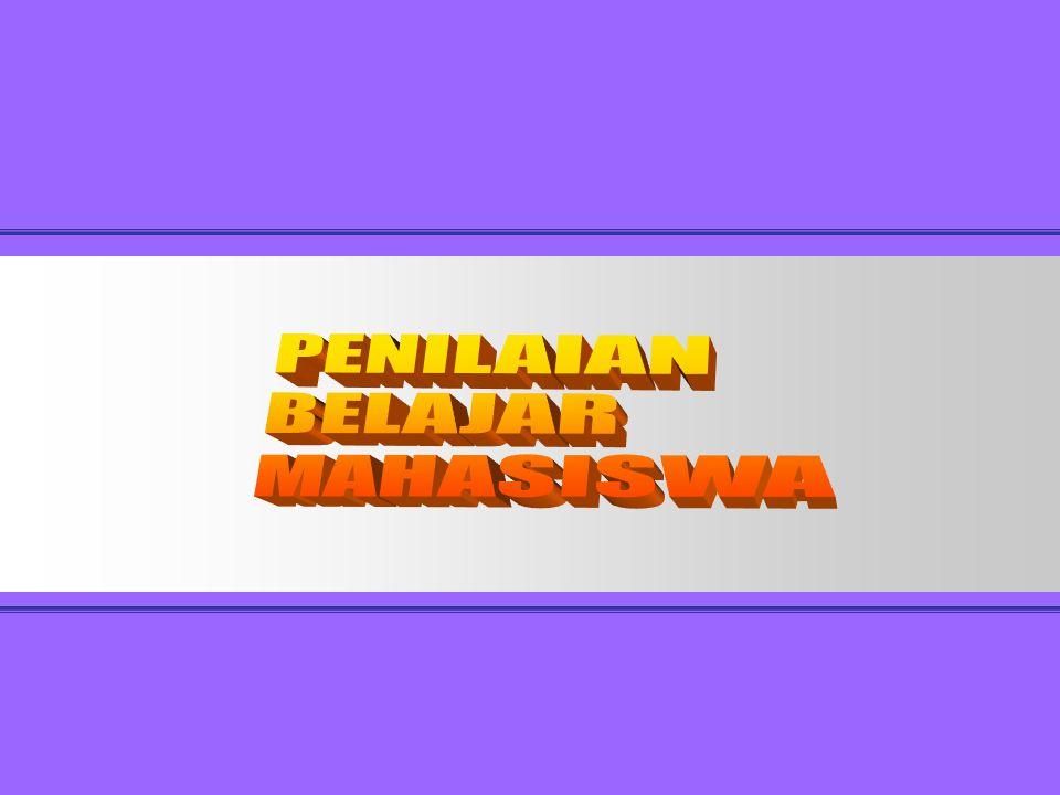 P3AI PENILAIAN BELAJAR MAHASISWA