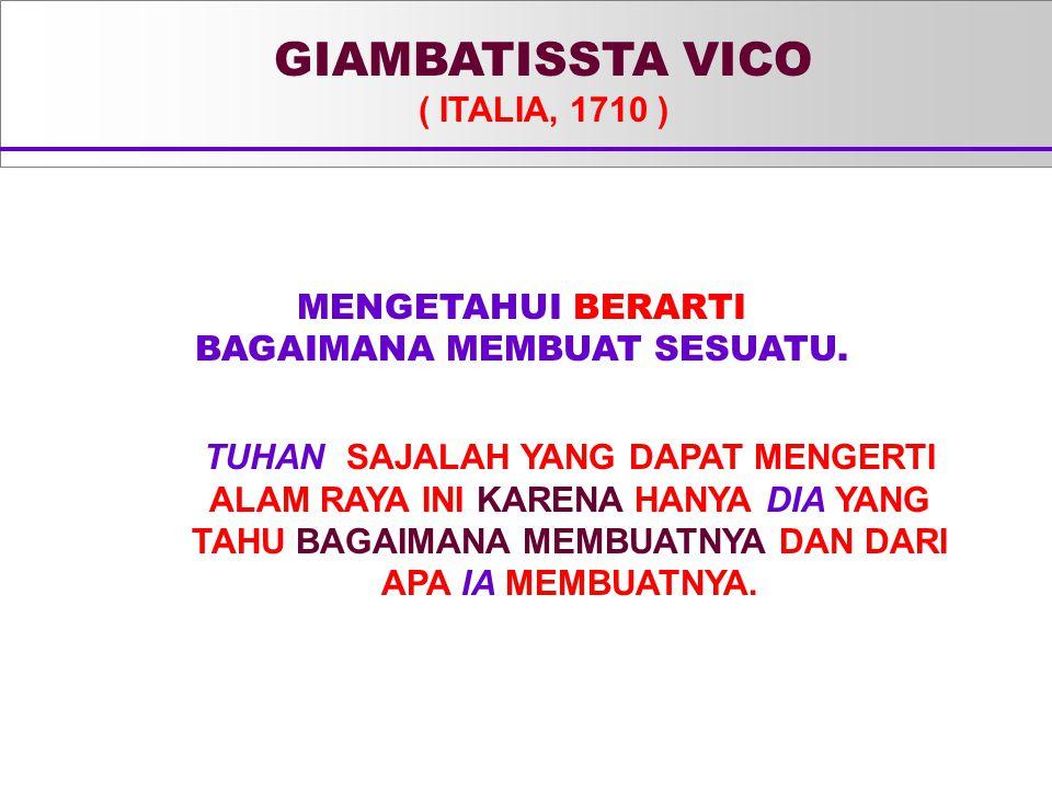 GIAMBATISSTA VICO ( ITALIA, 1710 )
