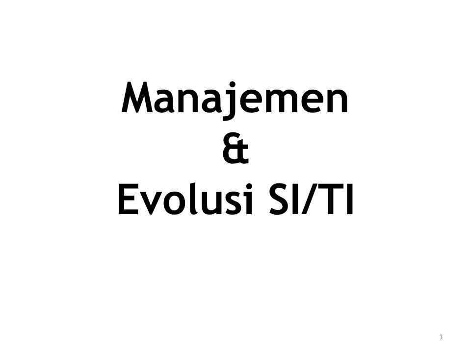 Manajemen & Evolusi SI/TI