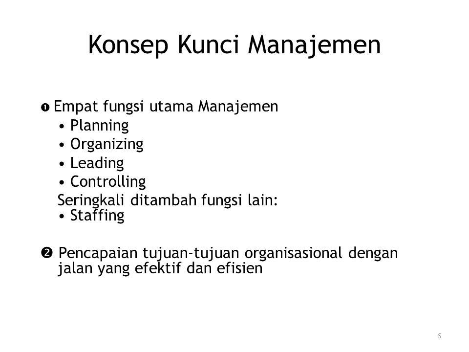 Konsep Kunci Manajemen