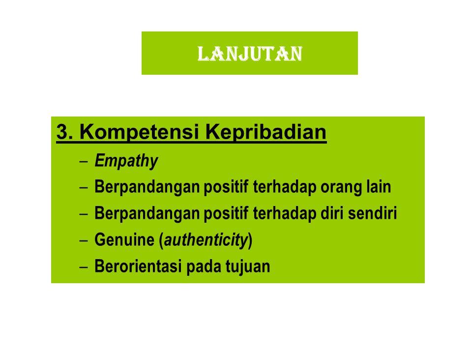 3. Kompetensi Kepribadian