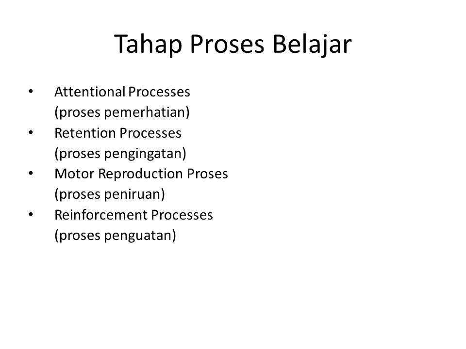 Tahap Proses Belajar Attentional Processes (proses pemerhatian)