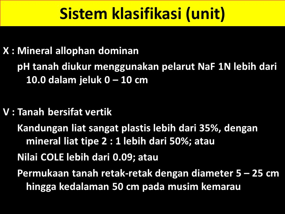 Sistem klasifikasi (unit)