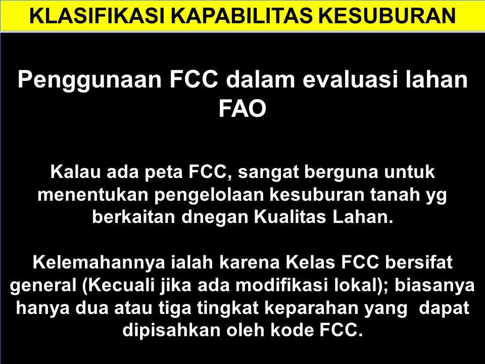 Penggunaan FCC dalam evaluasi lahan FAO