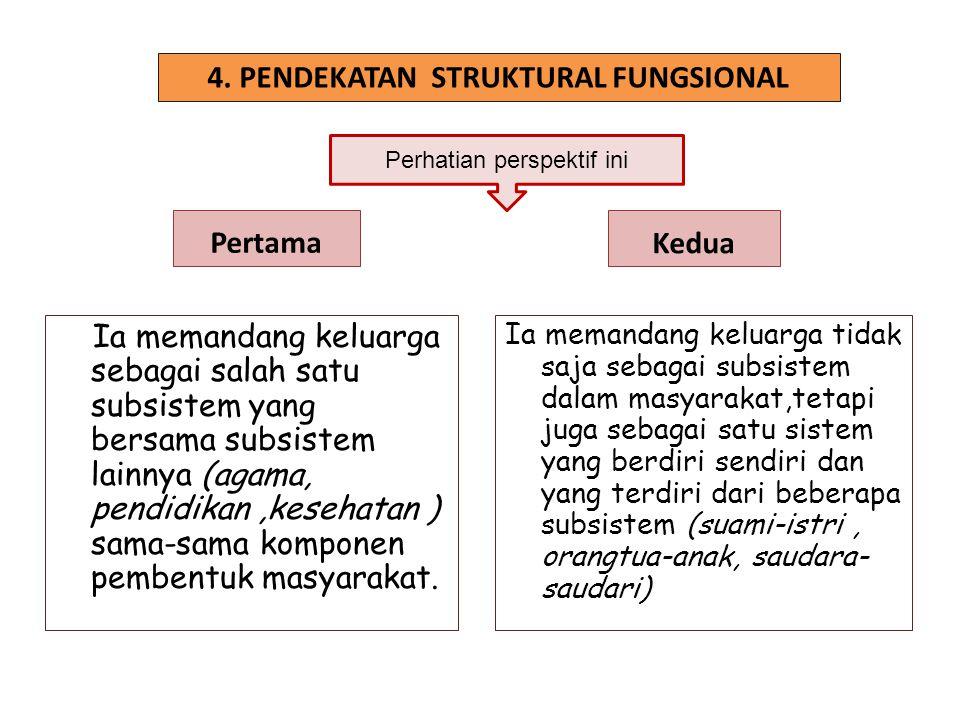4. PENDEKATAN STRUKTURAL FUNGSIONAL