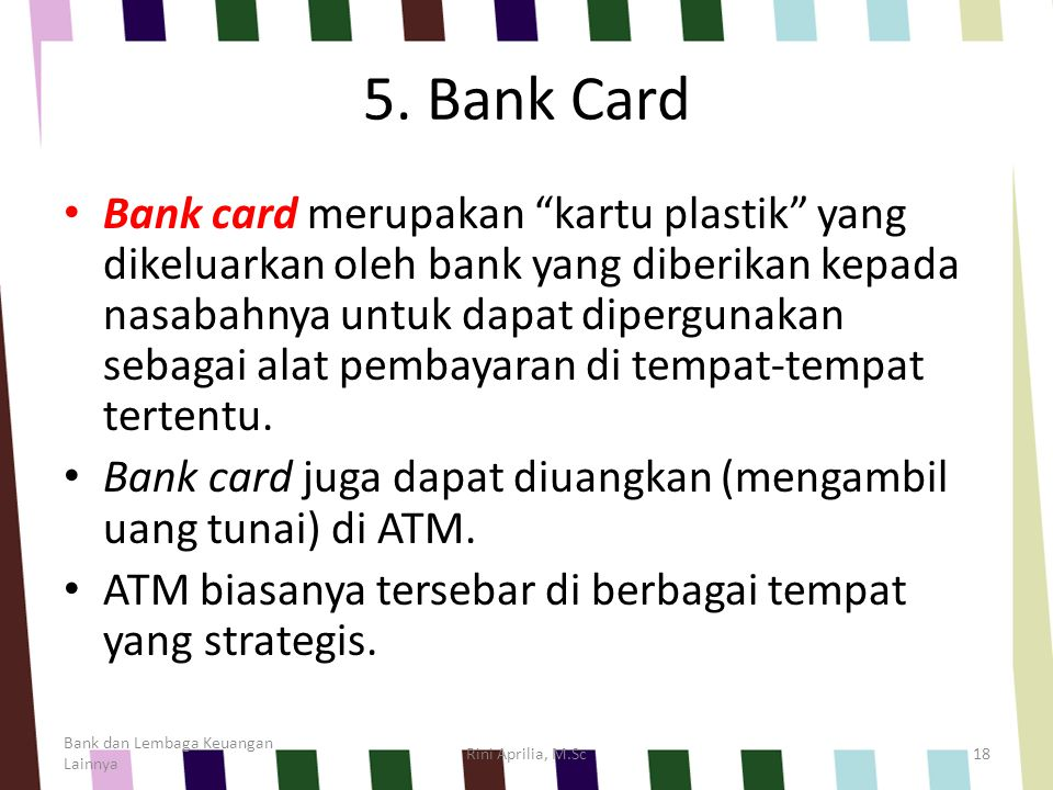 5. Bank Card