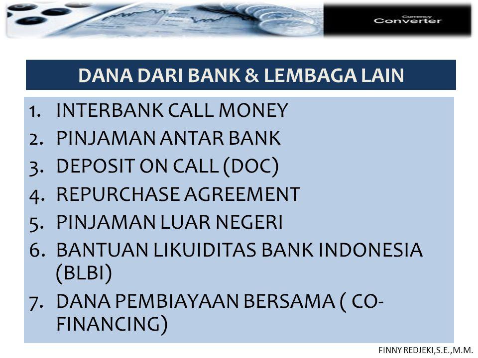 DANA DARI BANK & LEMBAGA LAIN