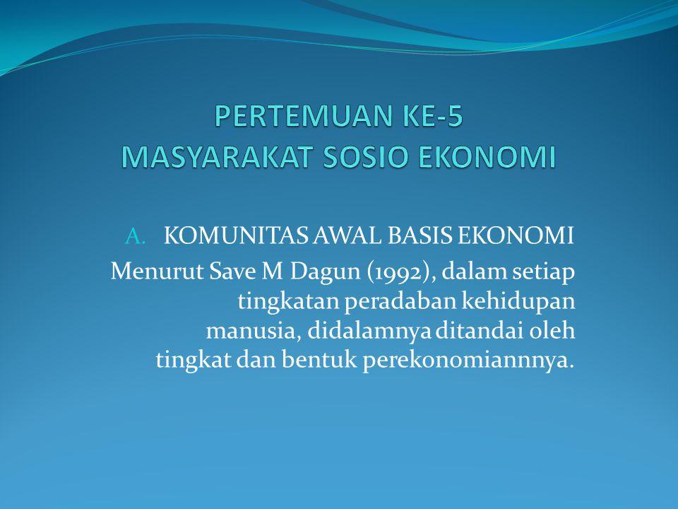 PERTEMUAN KE-5 MASYARAKAT SOSIO EKONOMI