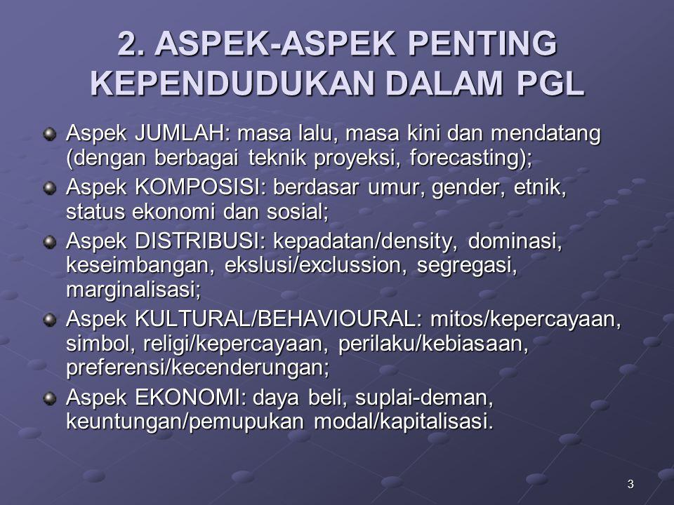 2. ASPEK-ASPEK PENTING KEPENDUDUKAN DALAM PGL