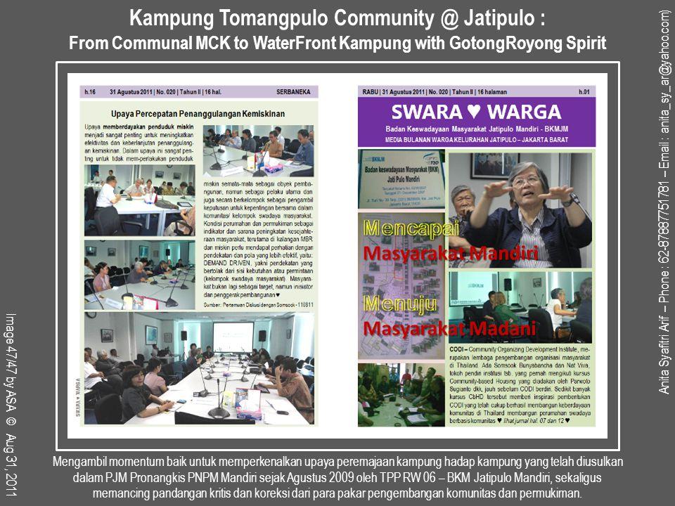 Kampung Tomangpulo Community @ Jatipulo :