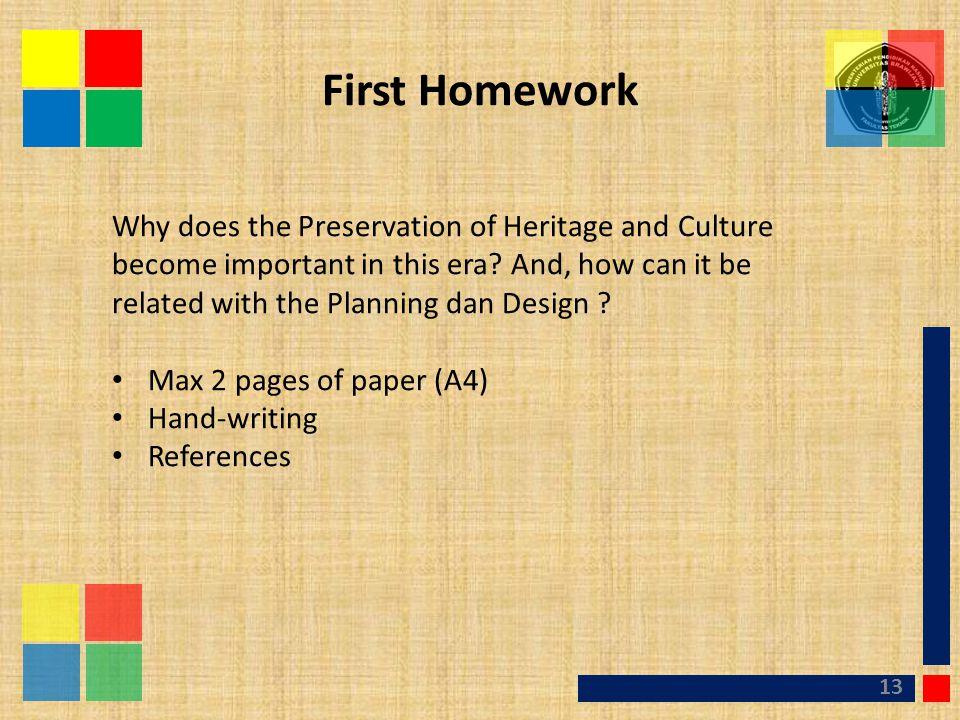 First Homework