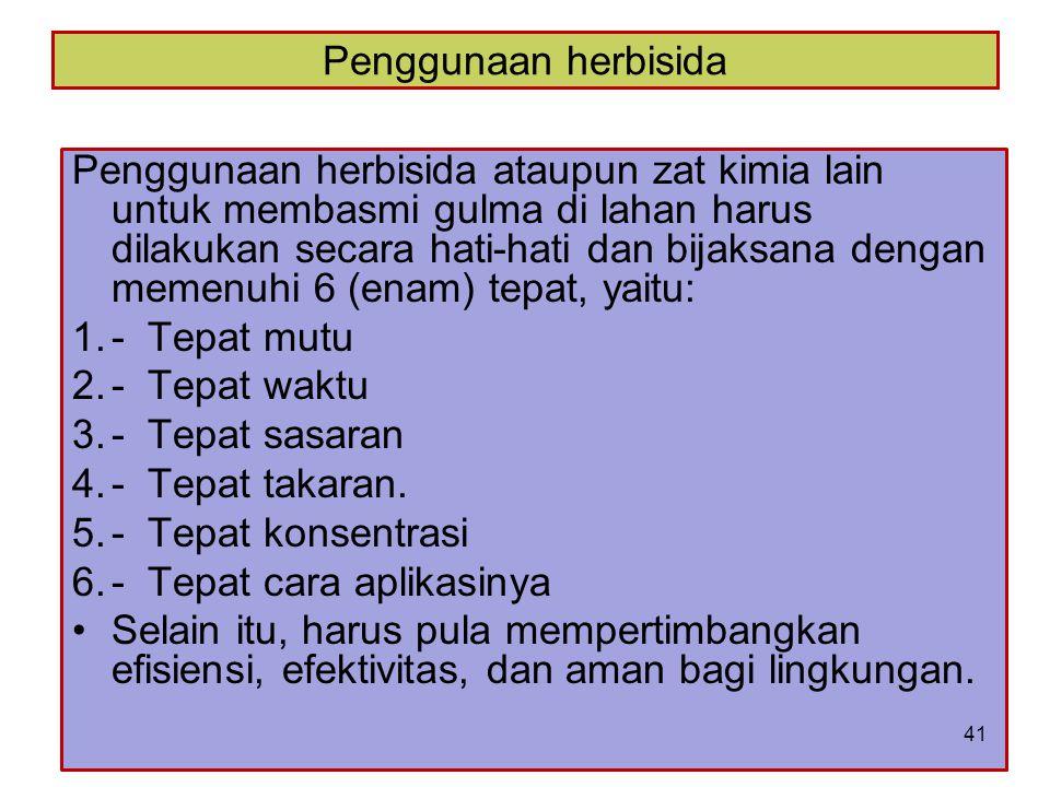 Penggunaan herbisida