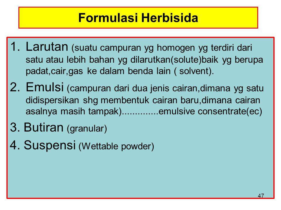 Formulasi Herbisida