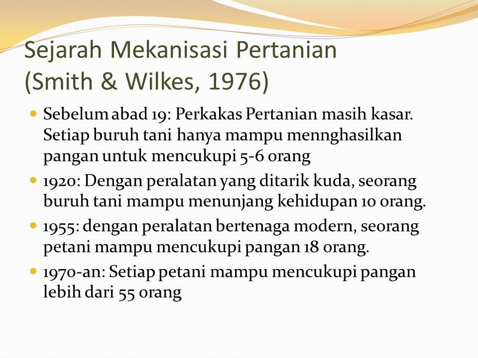 Sejarah Mekanisasi Pertanian (Smith & Wilkes, 1976)
