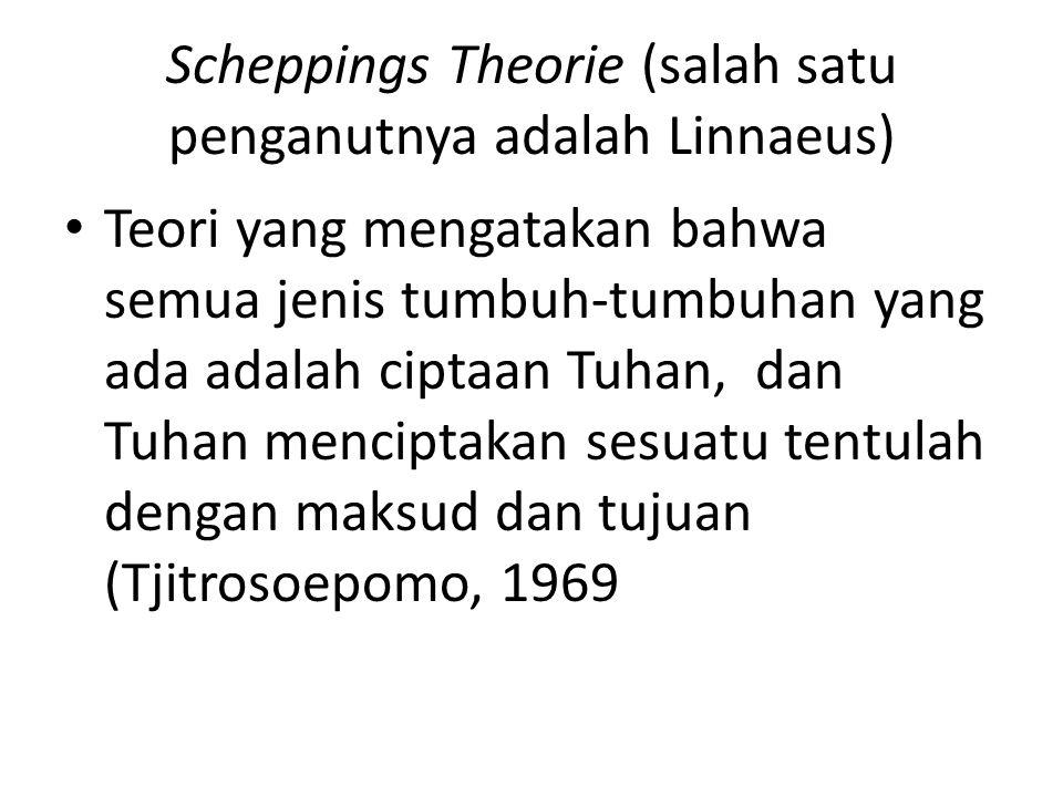 Scheppings Theorie (salah satu penganutnya adalah Linnaeus)