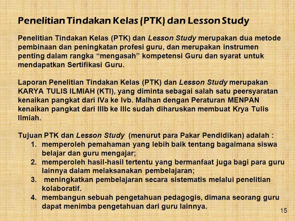 Penelitian Tindakan Kelas (PTK) dan Lesson Study