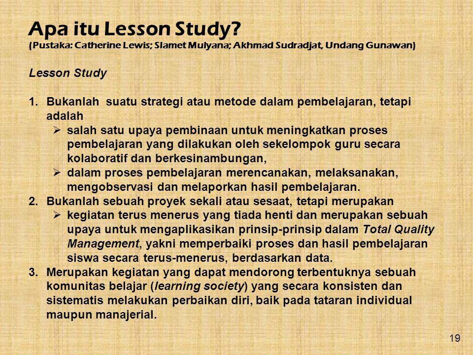 Apa itu Lesson Study Lesson Study