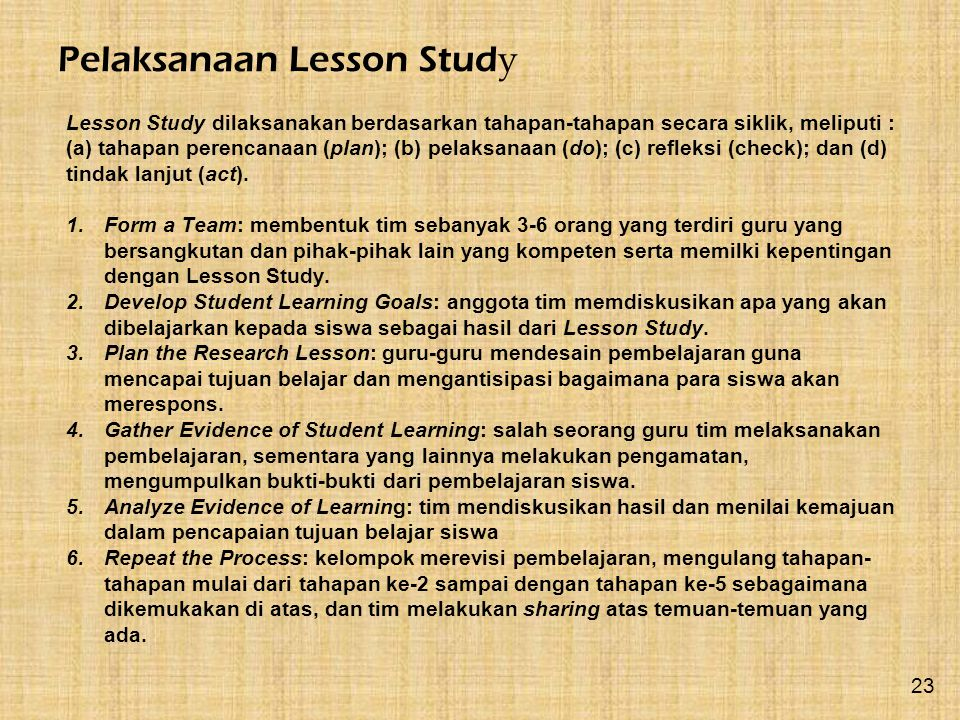 Pelaksanaan Lesson Study