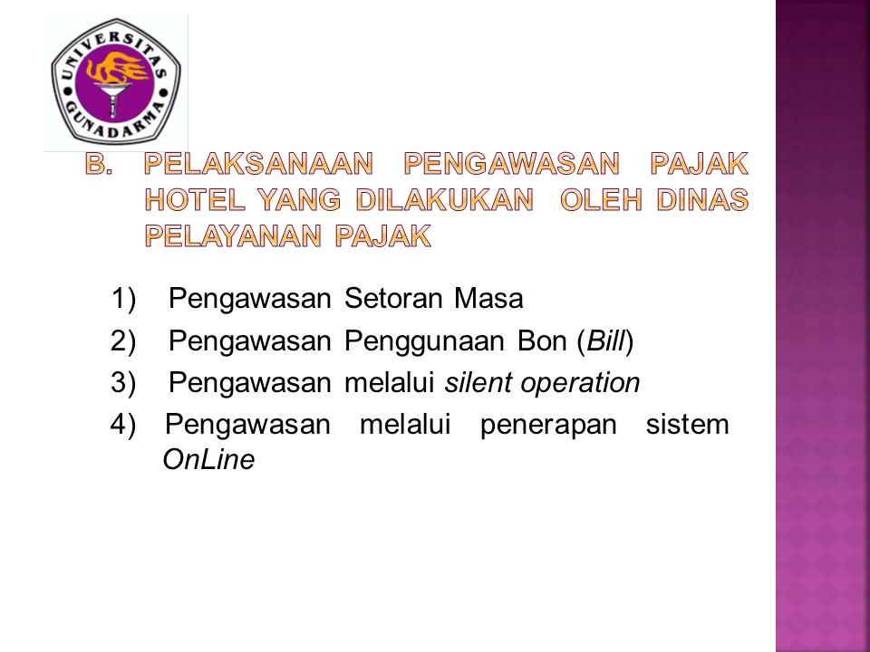 B. Pelaksanaan Pengawasan pajak hotel yang dilakukan oleh Dinas Pelayanan Pajak