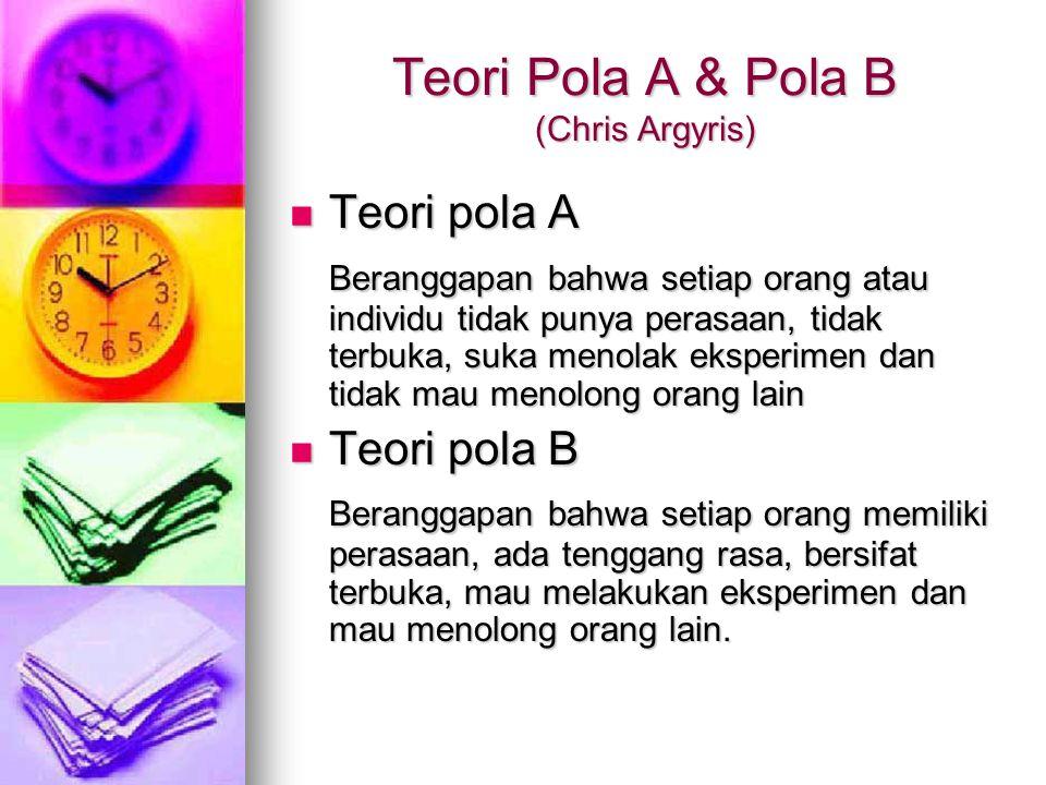 Teori Pola A & Pola B (Chris Argyris)