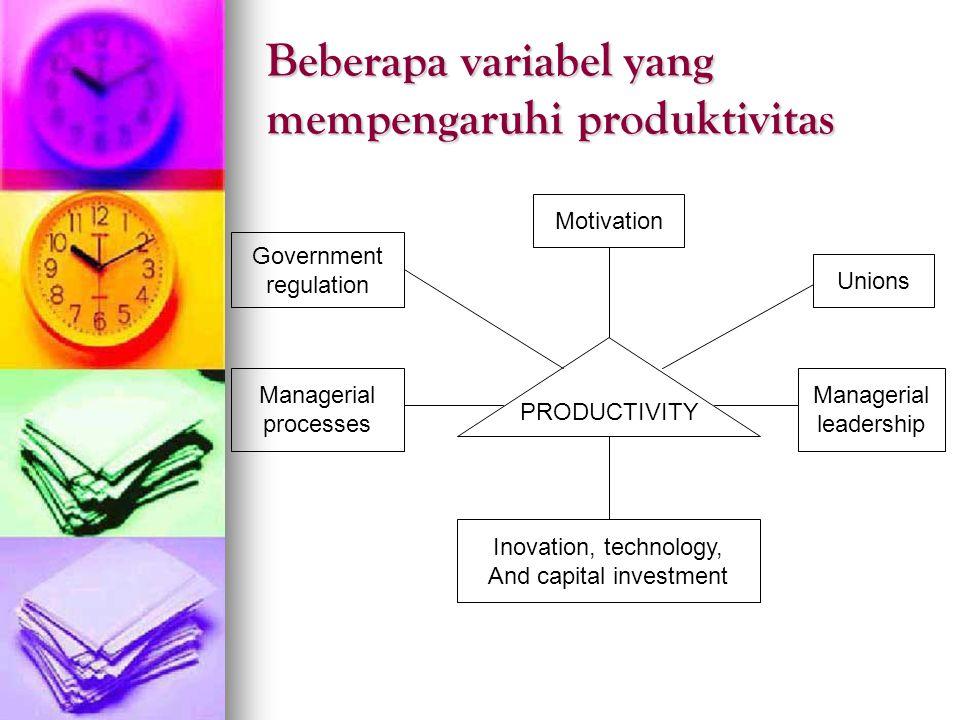 Beberapa variabel yang mempengaruhi produktivitas