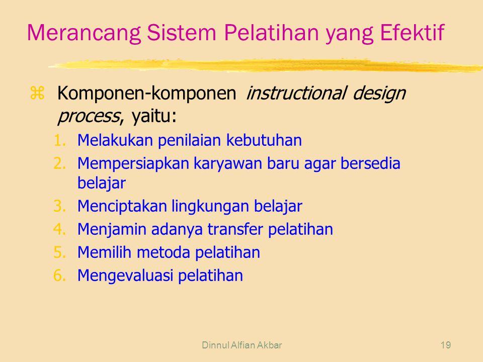 Merancang Sistem Pelatihan yang Efektif