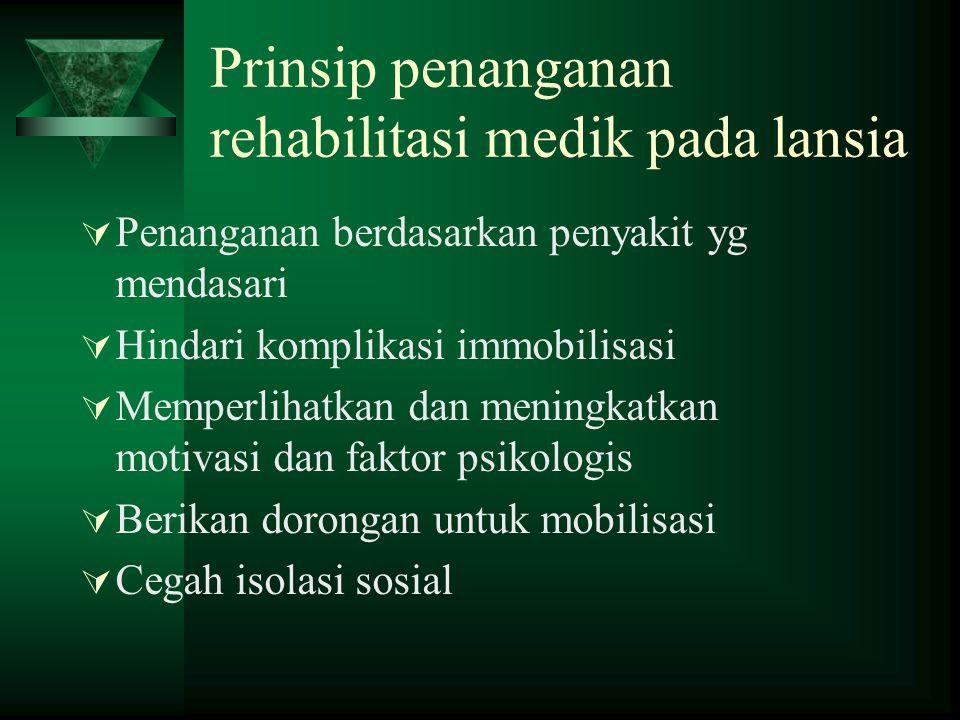 Prinsip penanganan rehabilitasi medik pada lansia