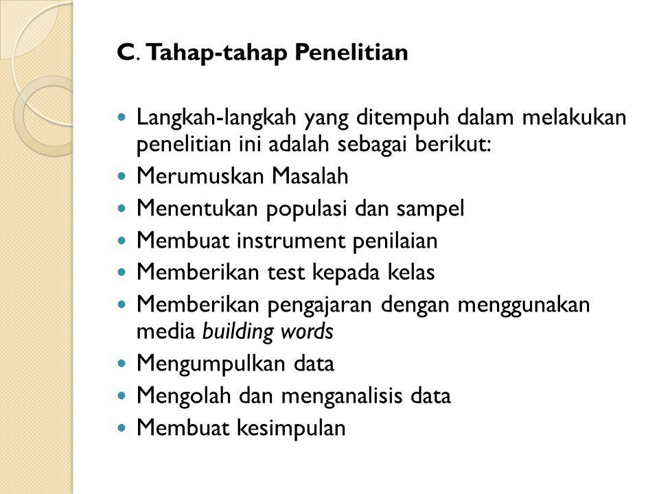 C. Tahap-tahap Penelitian