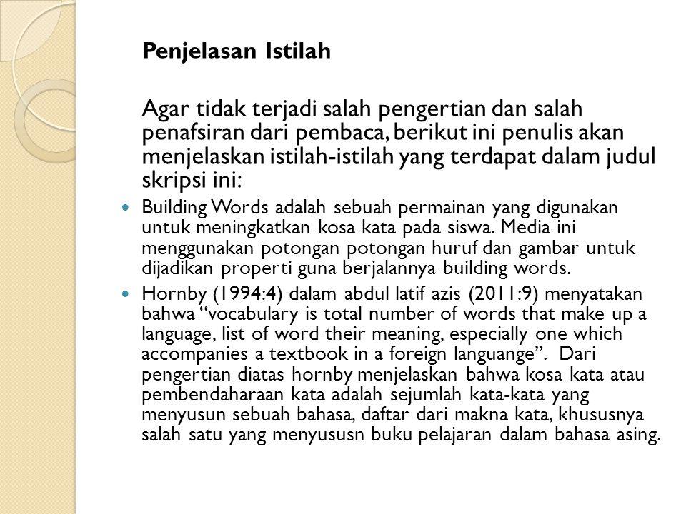 Penjelasan Istilah