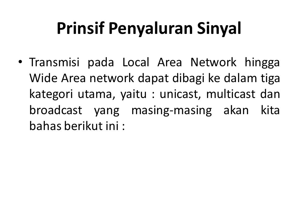 Prinsif Penyaluran Sinyal