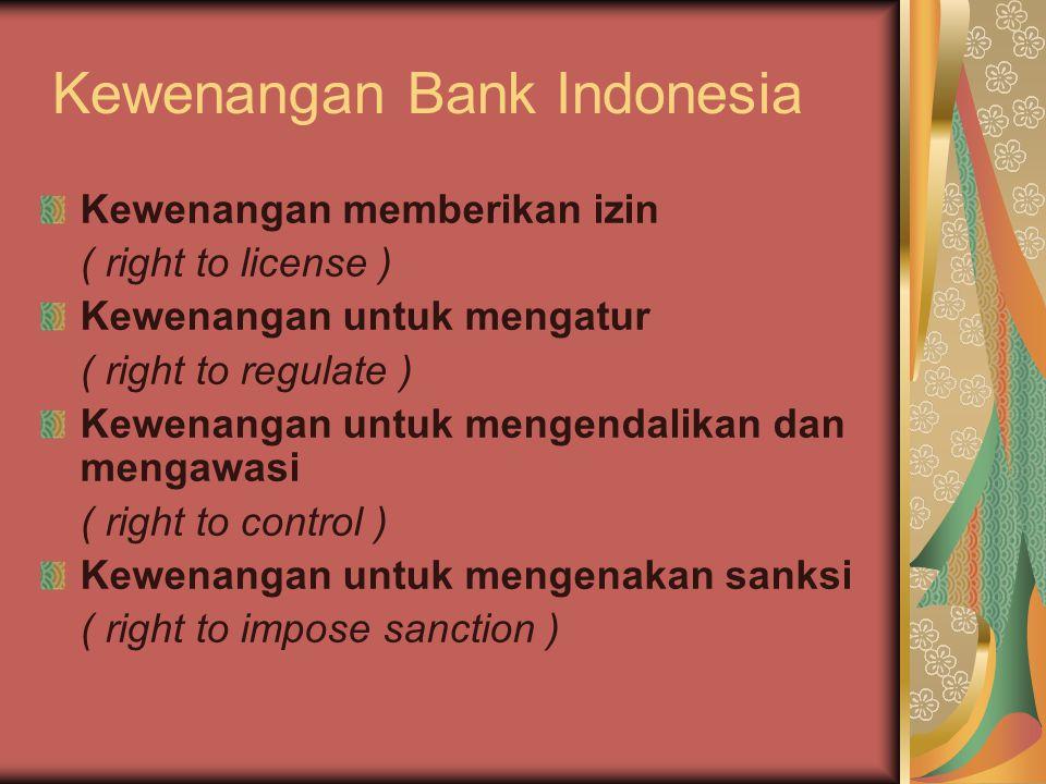 Kewenangan Bank Indonesia