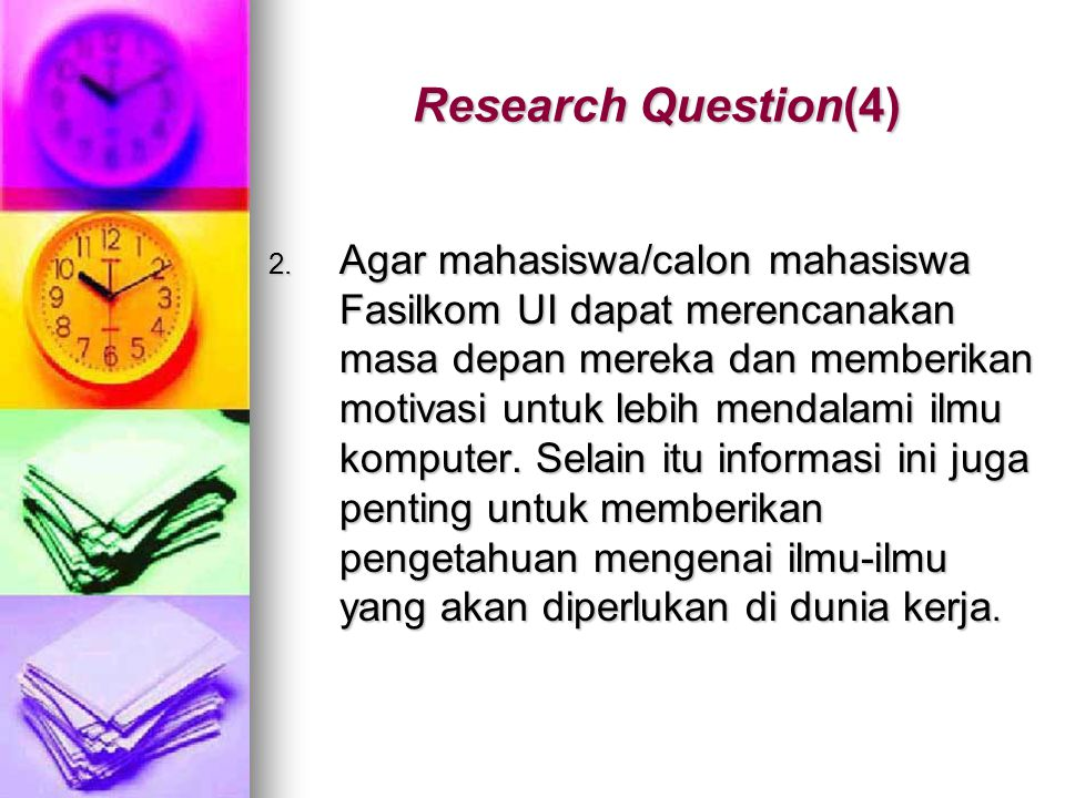 Research Question(4)