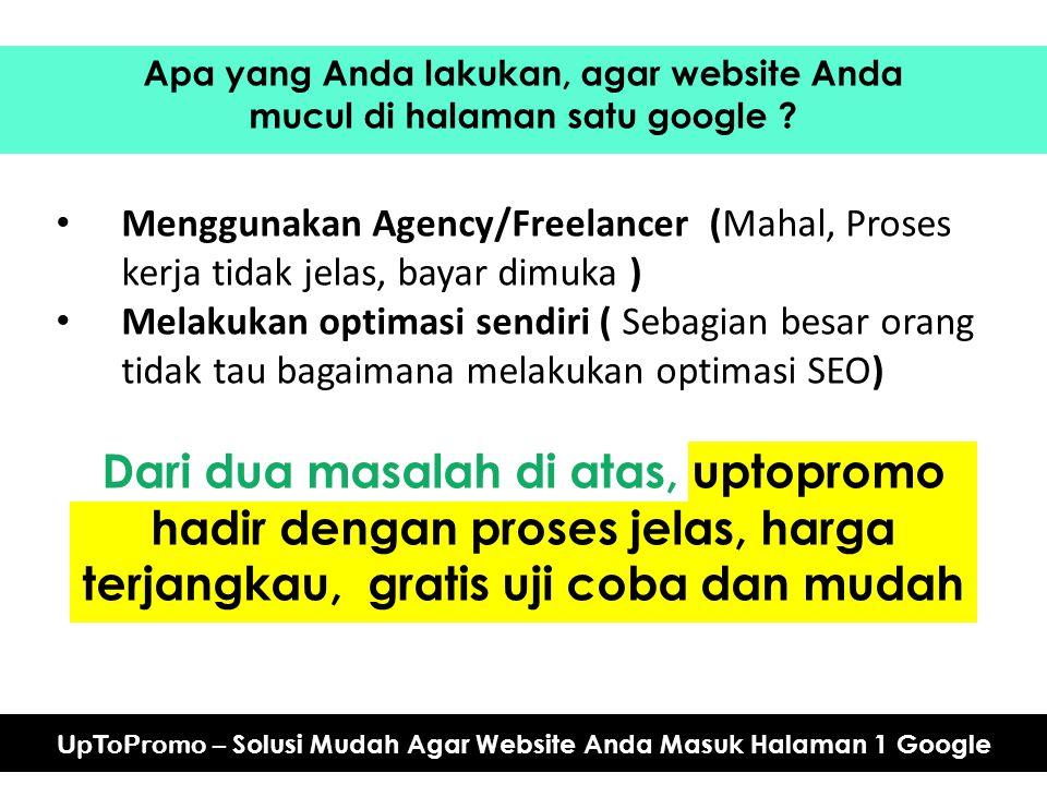 Apa yang Anda lakukan, agar website Anda