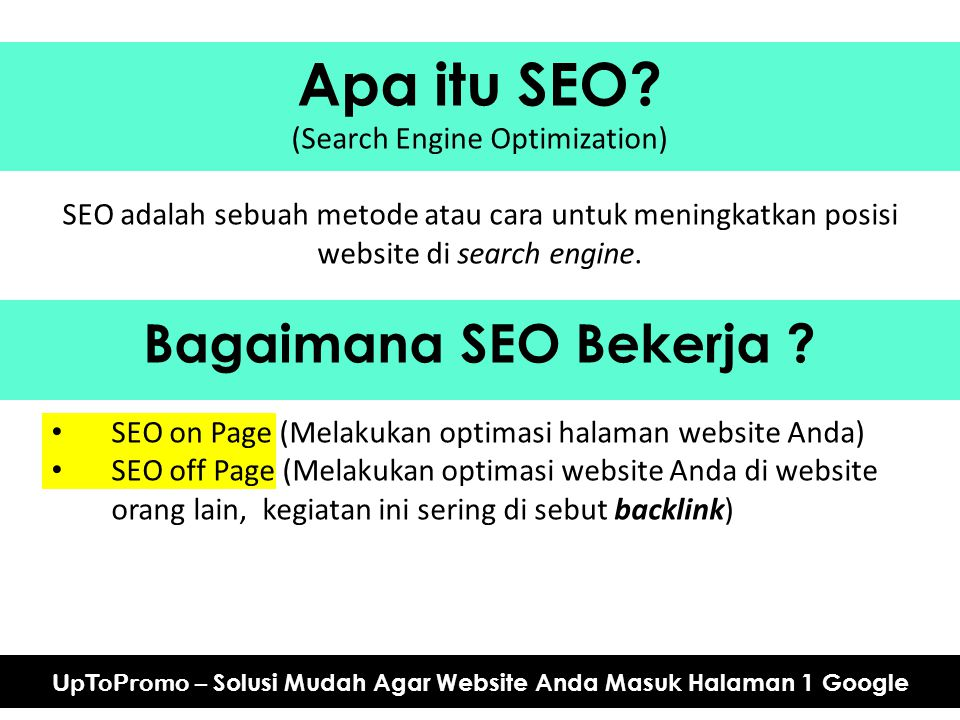 Apa itu SEO Bagaimana SEO Bekerja (Search Engine Optimization)