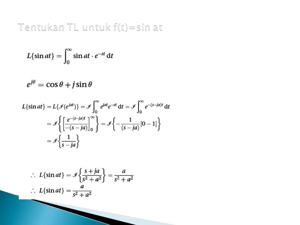 Tentukan TL untuk f(t)=sin at