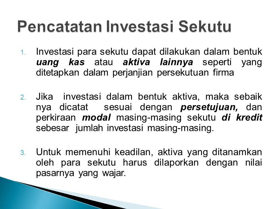 Pencatatan Investasi Sekutu