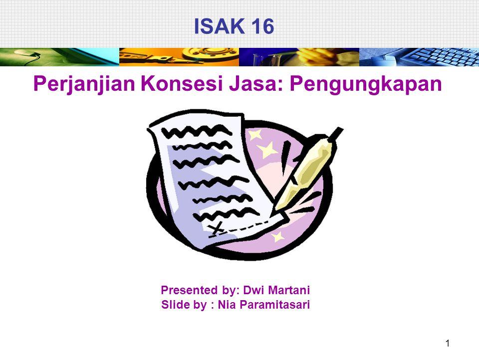 ISAK 16 Perjanjian Konsesi Jasa: Pengungkapan